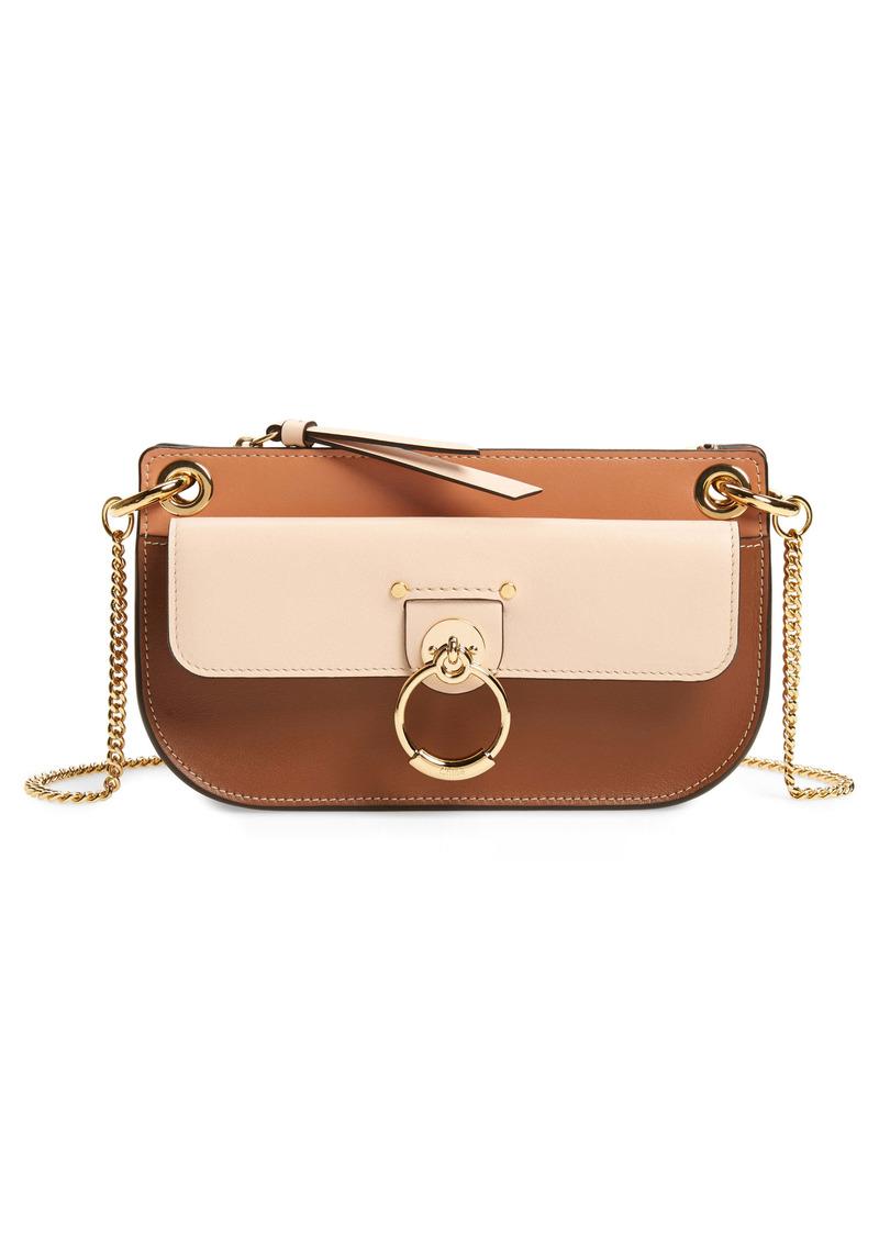 Chloé Mini Tess Colorblock Leather Crossbody Bag