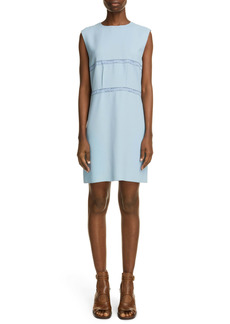 Chloé Sleeveless Lace Detail Crepe Minidress