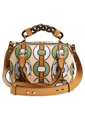 Chloé Small Daria Patchwork Leather Satchel