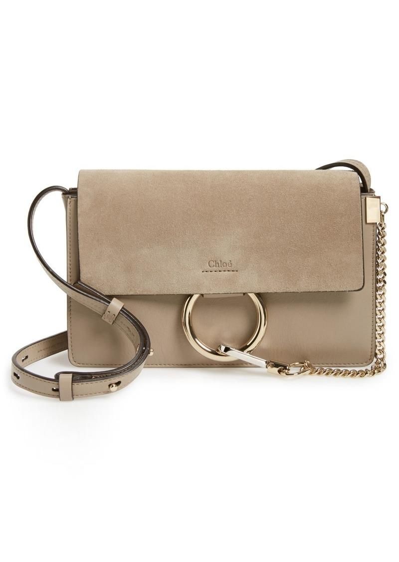 Chloé Small Faye Leather Crossbody Bag