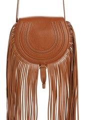 Chloé Small Marcie Fringe Leather Saddle Bag