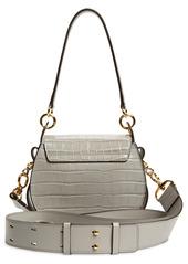 Chloé Small Tess Croc Embossed Leather Shoulder Bag