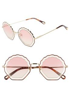 Chloé Tally 56mm Scalloped Sunglasses