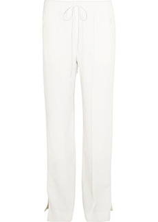 Chloé Woman Cady Straight-leg Track Pants White
