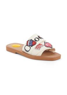 Chloé Woody Logo Patch Slide Sandal (Women)