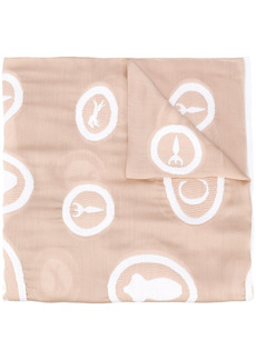 Chloé embroidered motif scarf