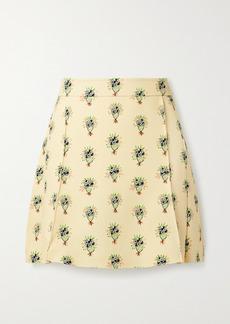 Chloé Floral-print Crepe Mini Skirt