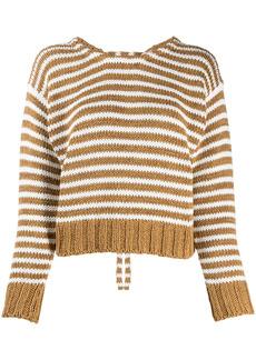Chloé striped lace-up jumper