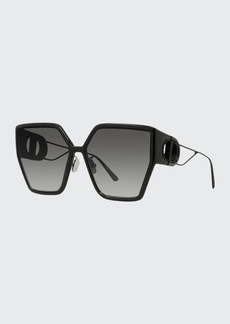Christian Dior Dior Oversized Geometric Injection Plastic Sunglasses