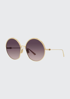 Christian Dior Dior Oversized Round Metal Sunglasses