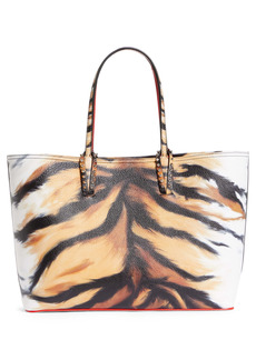 Christian Louboutin Cabata Tiger Print Leather Tote