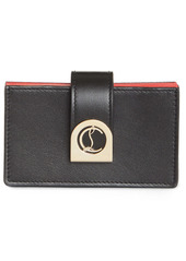 Christian Louboutin Elisa Accordion Leather Card Holder
