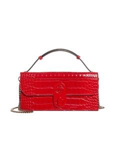 Christian Louboutin Elisa Croc Embossed Leather Baguette Bag