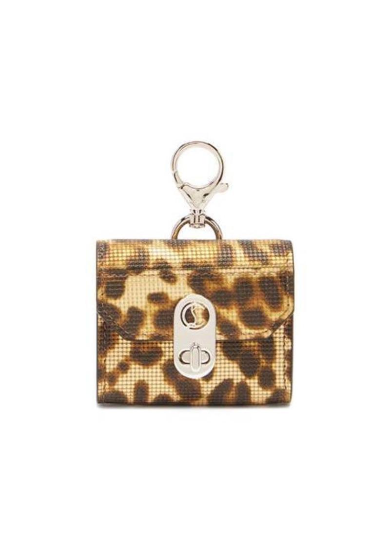 Christian Louboutin Elisa leopard-print leather AirPods Pro case