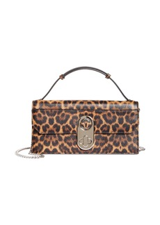 Christian Louboutin Elisa Leopard Print Leather Baguette Bag