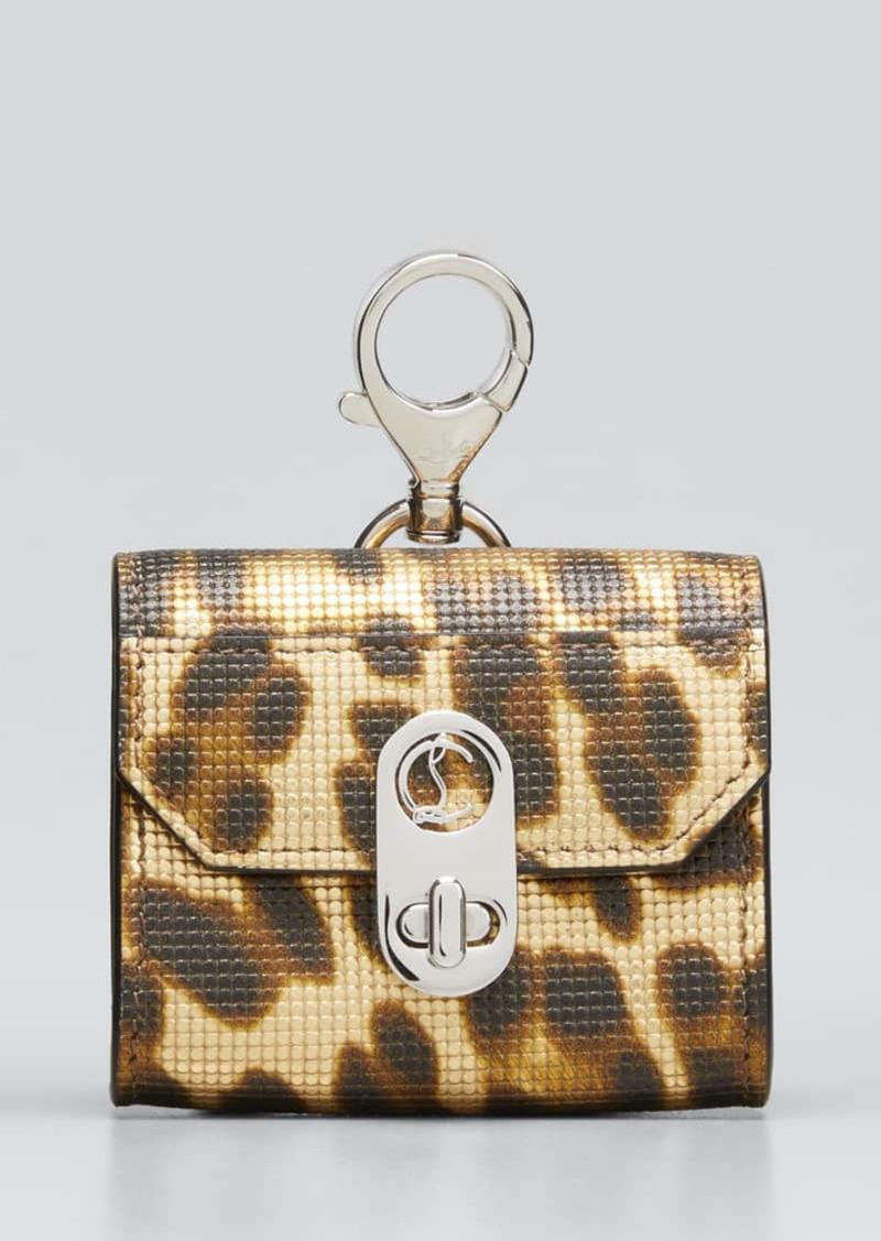 Christian Louboutin Elisa Textured Leopard-Print Airpods Pro Case