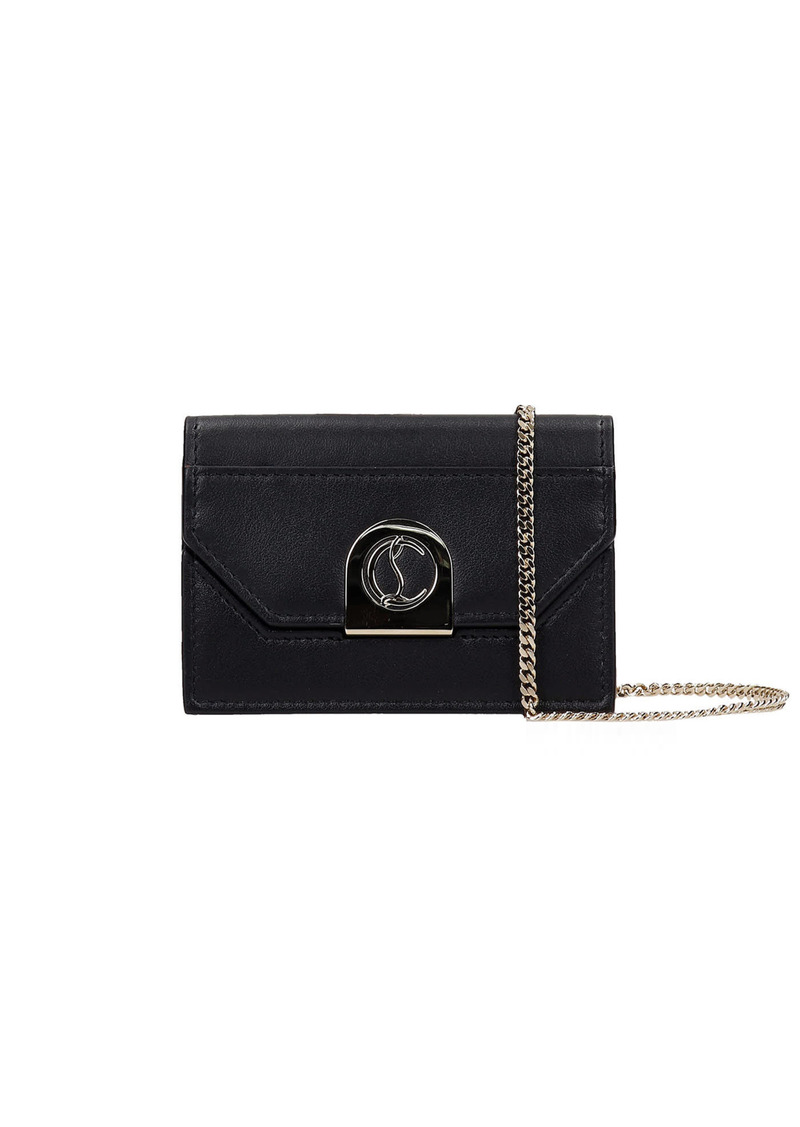 Christian Louboutin Elisa Wallet In Black Leather
