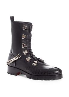 Christian Louboutin Guarda Chain Strap Combat Boot (Women)