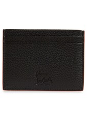 Christian Louboutin Kios Spikes Calfskin Leather Card Case