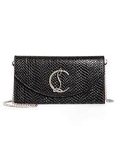 Christian Louboutin Loubi54 Embossed Leather Clutch