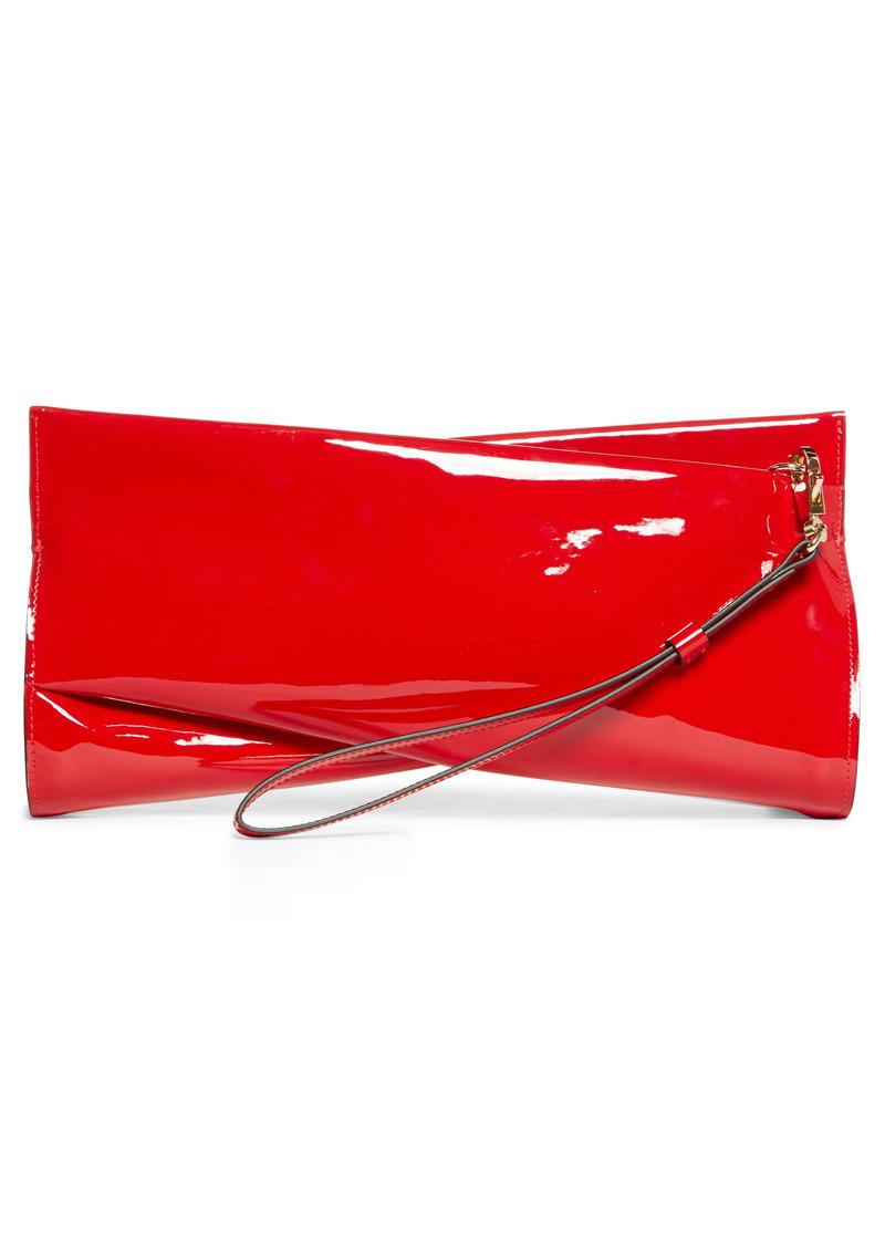 Christian Louboutin Loubitwist Patent Leather Clutch