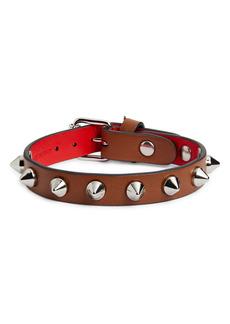 Christian Louboutin Loublink Studded Leather Bracelet