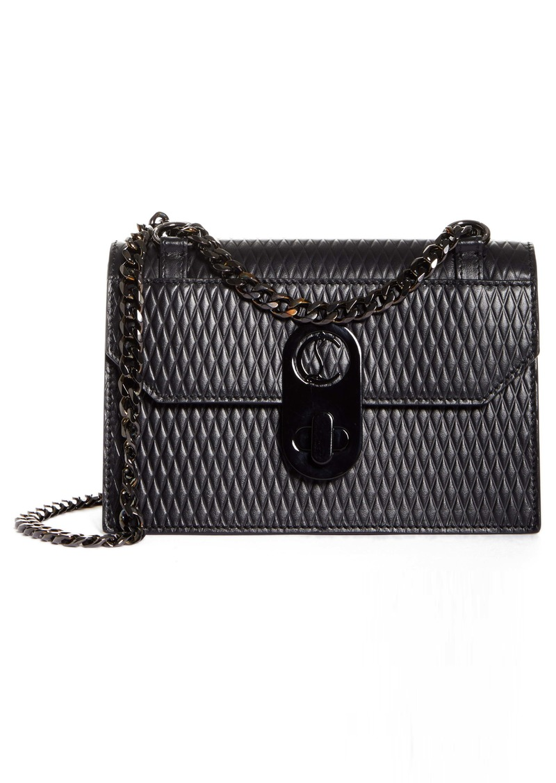 Christian Louboutin Mini Elisa Diamond Embossed Leather Shoulder Bag