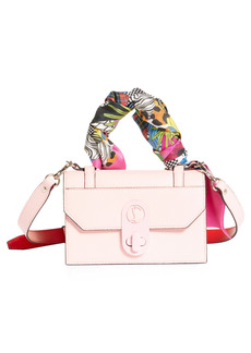 Christian Louboutin Mini Elisa Wrapped Top Handle Leather Shoulder Bag