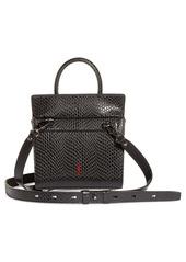 Christian Louboutin Mini Paloma Snake Embossed Leather Satchel