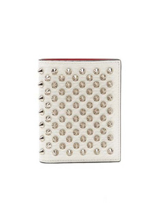 Christian Louboutin Palatin spike-embellished leather wallet