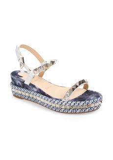 Christian Louboutin Pyraclou Studded Platform Wedge Sandal (Women)