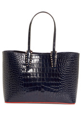 Christian Louboutin Small Cabata Croc Embossed Leather Tote