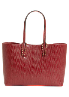 Christian Louboutin Small Cabata Snake Embossed Leather Tote
