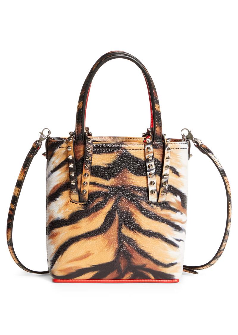 Christian Louboutin Medium Cabata Tiger Print Leather Tote