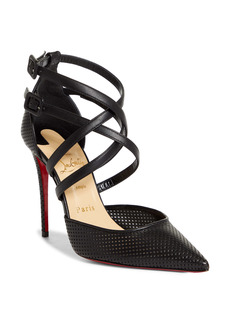 Christian Louboutin Victorilla Strappy Pointed Toe Pump (Women)