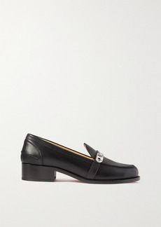 Christian Louboutin Lock Me Moc 45 Embellished Leather Loafers