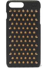 Christian Louboutin Loubiphone Spiked Textured-leather Iphone 7 And 8 Plus Case
