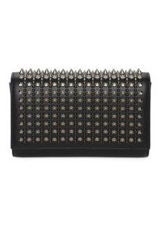 Christian Louboutin Paloma Leather Spikes Clutch
