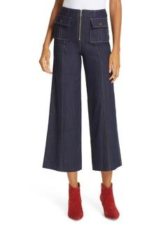 Cinq a Sept Cinq à Sept Azure Crop Wide Leg Jeans