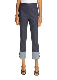 Cinq a Sept Cinq á Sept Bicolor Denim Trousers