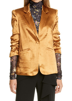 Cinq a Sept Cinq à Sept Kylie Hammered Satin Jacket