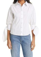Cinq a Sept Cinq à Sept Theresa Bow Sleeve Cotton Blend Blouse