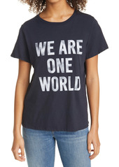 Cinq a Sept Cinq à Sept We Are One World Graphic Tee