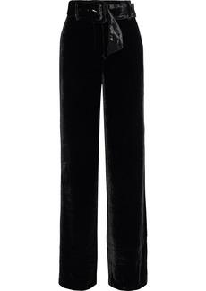 Cinq a Sept Cinq À Sept Woman Eliza Belted Velvet Wide-leg Pants Black