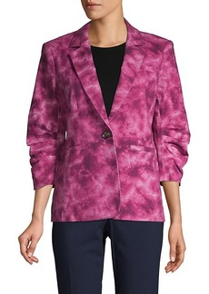 Cinq a Sept Tie-Dye Stretch-Cotton Blazer