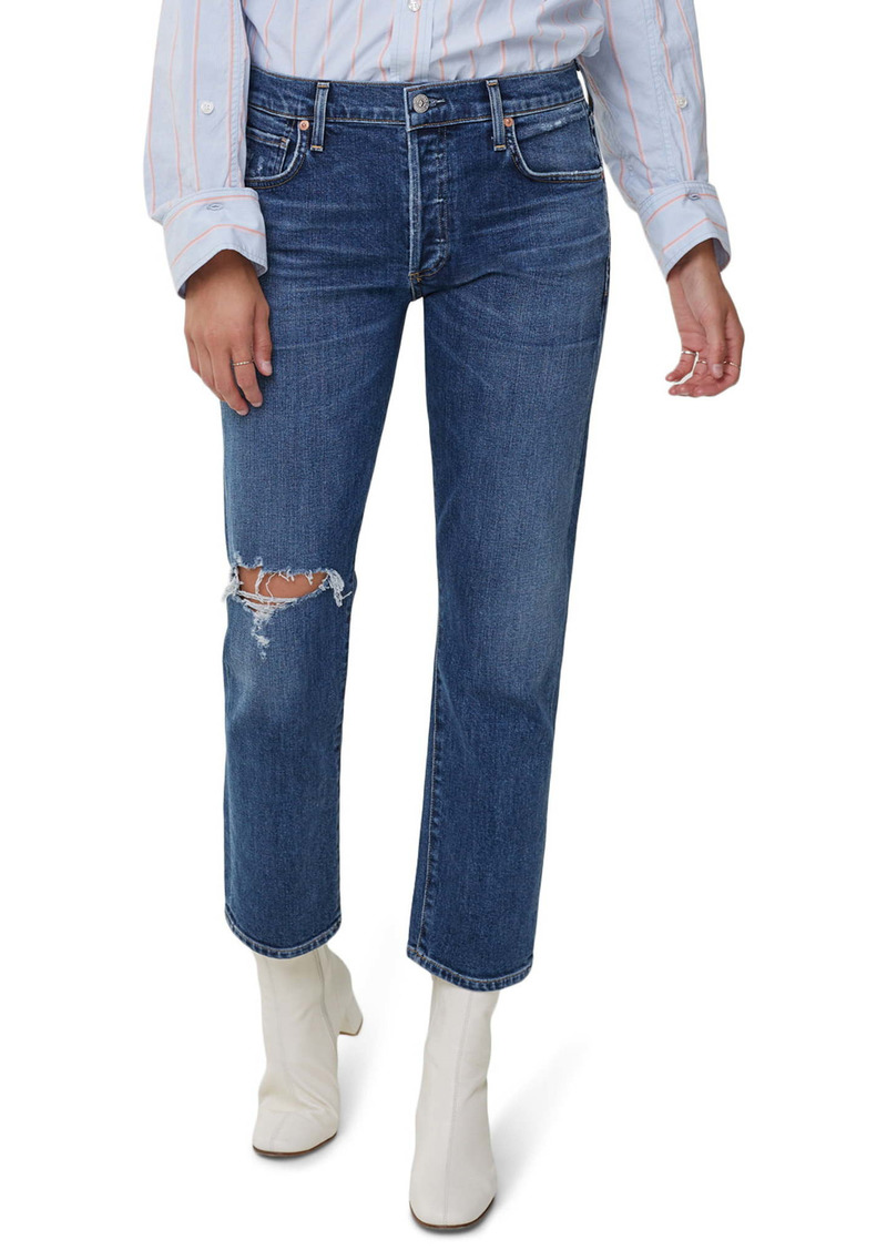 Citizens of Humanity Emerson Ripped Ankle Slim Fit Boyfriend Jeans (Tempo)