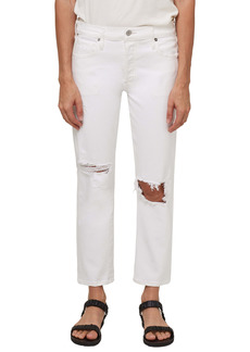 Citizens of Humanity Emerson Ripped Mid Rise Slim Boyfriend Jeans (Fracture White)