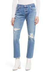 Citizens of Humanity Emerson Ripped Slim Fit Boyfriend Ankle Jeans (Tease)