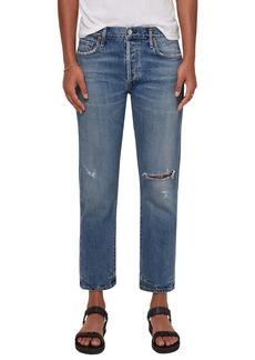 Citizens of Humanity Emery Ripped High Waist Crop Straight Leg Jeans (Roadtrip)