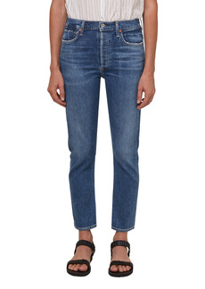 Citizens of Humanity High Waist Ankle Straight Leg Jeans (Dance Floor)